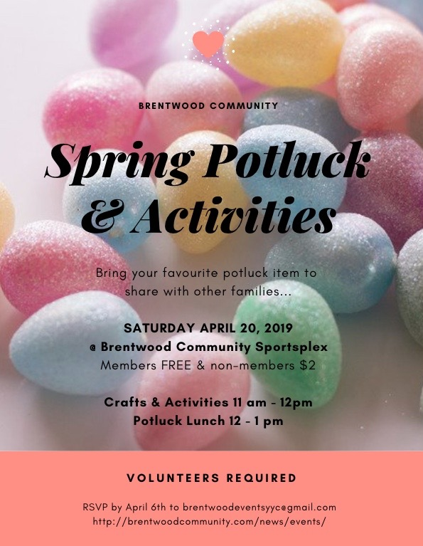 Spring Potluck and Activities
