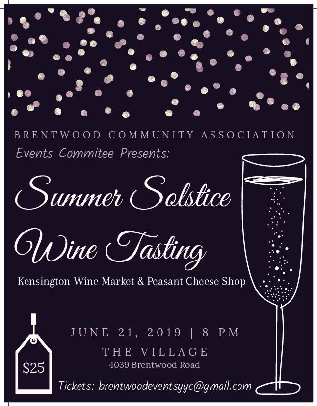 Summer Solstice Wine Tasting 2019