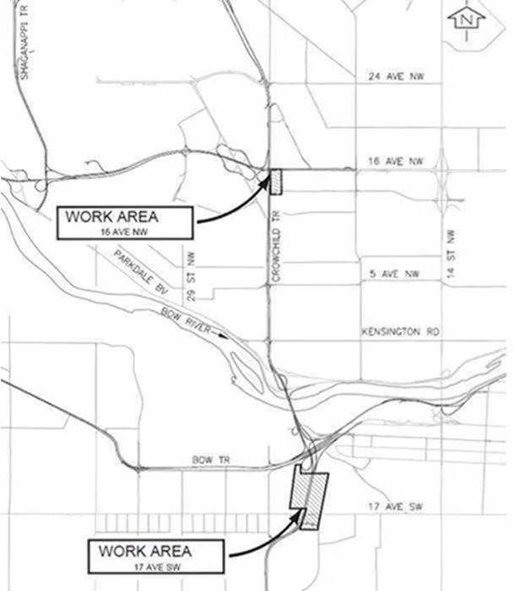Crowchild Trail Upgrades .. Summer 2019 Update from City of Calgary
